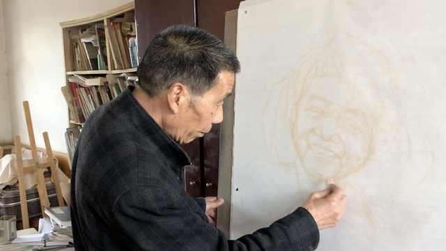 牛!7旬老人画像11年,收到13国回信