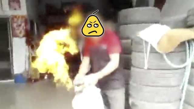 老赖占房不搬,点燃气罐喷民警被拘