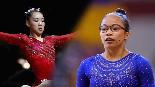2位中国面孔领衔!美国体操女队夺冠