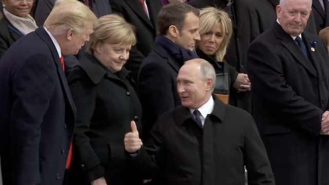 一战停战纪念日,普京对川普竖拇指