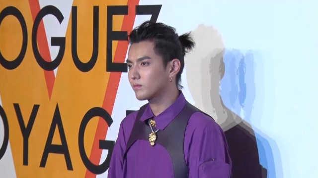 吴亦凡LV红毯秀,紫色穿搭贵气十足