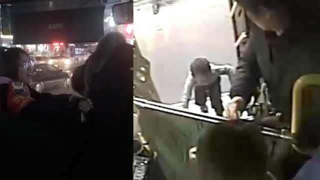2岁娃独自上公交,陌生口罩女想抱走