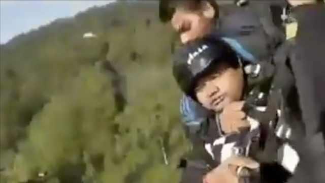 滑翔伞高空伞绳断裂,教练被摔死