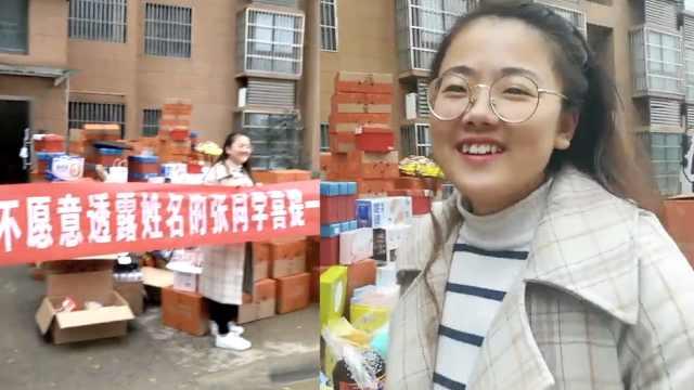 女生成锦鲤抽中5吨零食,装满一卡车