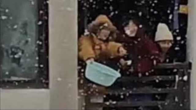 南方人乐疯了!脸盆接雪,红枣堆雪人