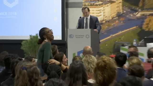气候大会美代表发言遭全场哄笑抗议
