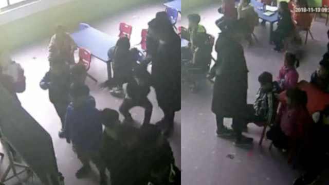 网曝幼儿园疑似虐童,拖拽踩踏学生
