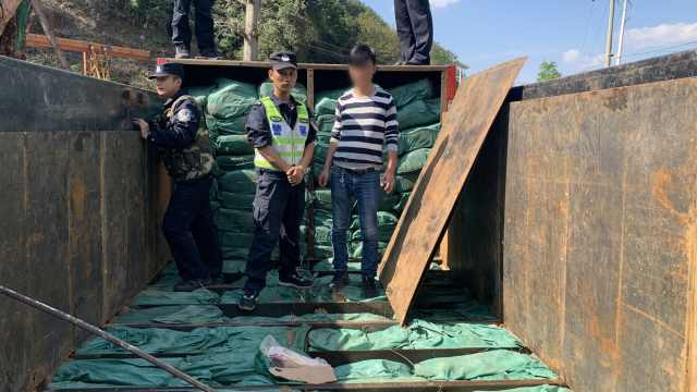 货车藏夹层暗格,10吨走私冻肉被查