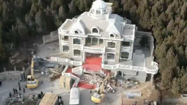 2千平别墅被拆,号称济南