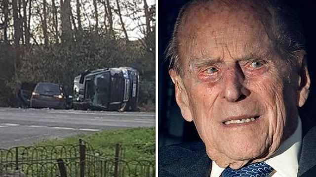 英国女王丈夫97岁,亲自开车被撞翻