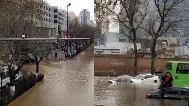 水管爆裂小区被淹,现场如洪水来袭