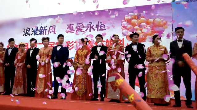 拒绝高价彩礼,12对新人零彩礼结婚