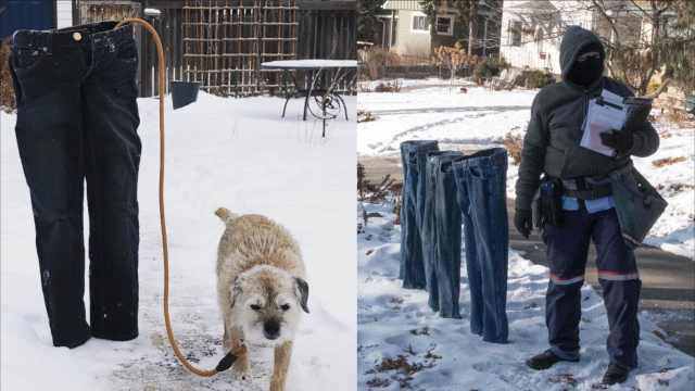 极寒天气晾衣服,美国兴起冻裤挑战