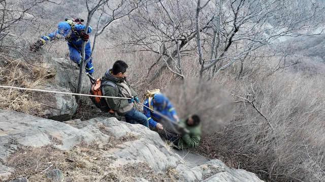 男子除夕坠崖,被困7天初六终获救