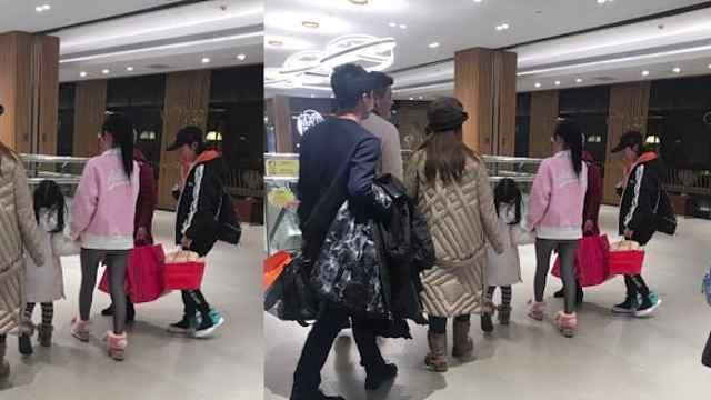 网友偶遇李小璐甜馨北京逛街