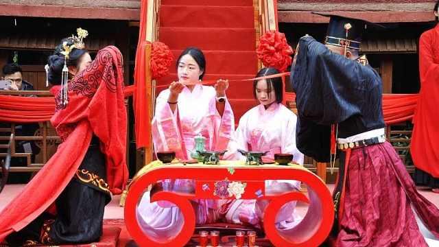 他俩花十多万办汉式婚礼,筹备3个月