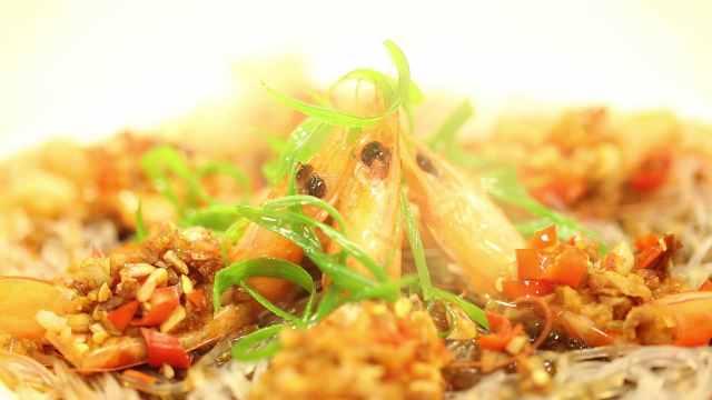 蒜蓉粉丝蒸虾,美味又新鲜!