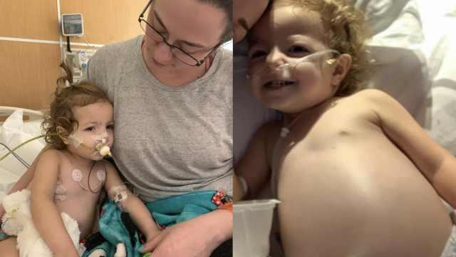 2岁女童患卵巢癌,肿瘤直径14公分