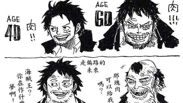 尾田手稿:海贼王各角色变老的样子