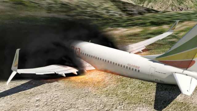 揪心!动画模拟埃航坠机死亡六分钟
