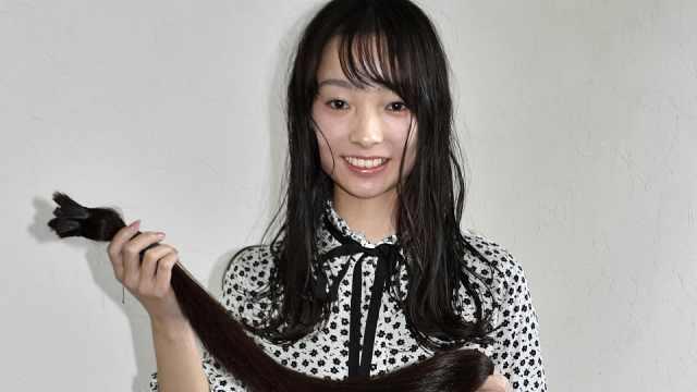 迎接新年号,日本少女剪1.2米长发