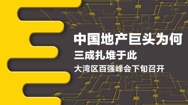 香港将迎来大湾区百强峰会!