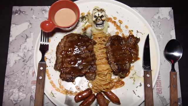 鬼屋餐厅菜品血腥,进去需签生死状