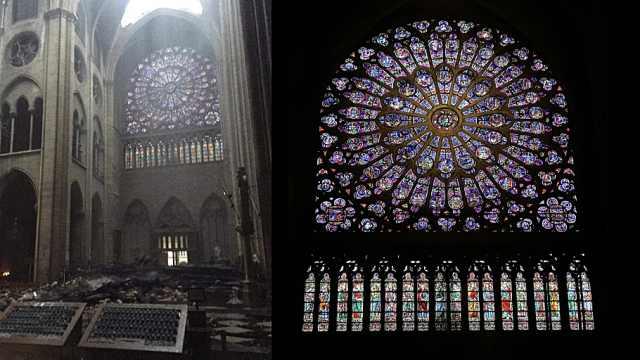艺术瑰宝!回顾巴黎圣母院玫瑰花窗