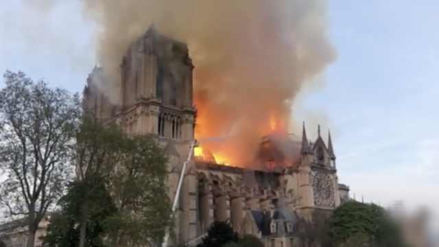巴黎圣母院火灾或由电线短路引发