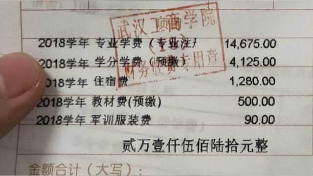 """武汉工商学院回应""""乱收费"""":误解"""