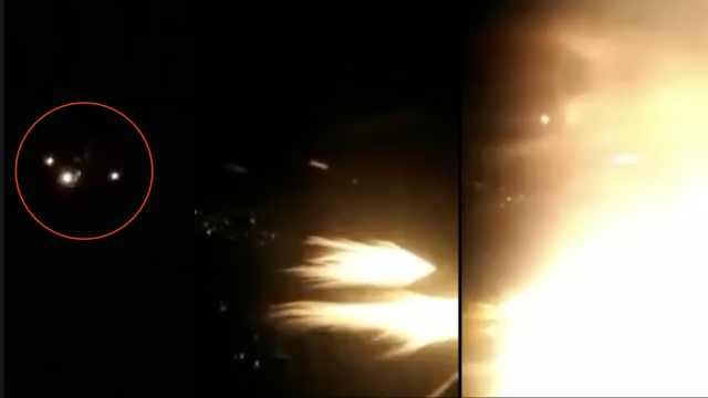 津巴布韦一架波音767引擎空中起火