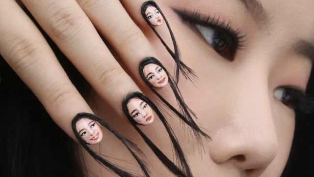 隐形妆!她用人体彩绘把自己藏起来