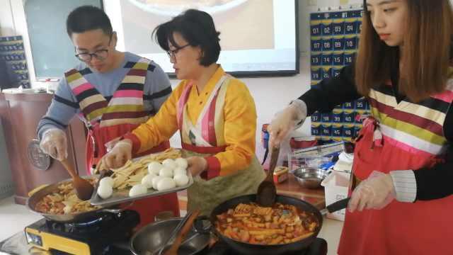 外教上课做韩餐,学生为吃美食选课