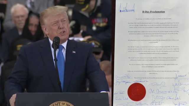 川普最孤独签名:一个人签在左上角