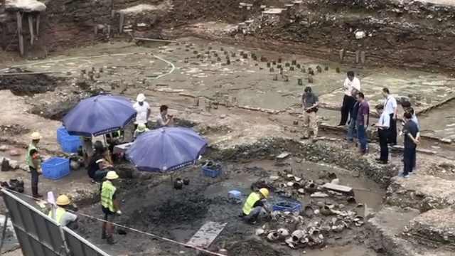 广州考古新发现:挖出大批晚唐陶器