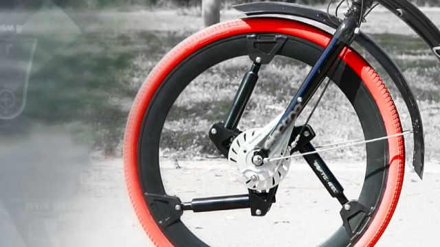 超火的自行车减震轮胎