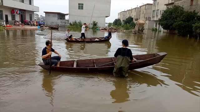 村庄年年被淹,全村都是划船高手