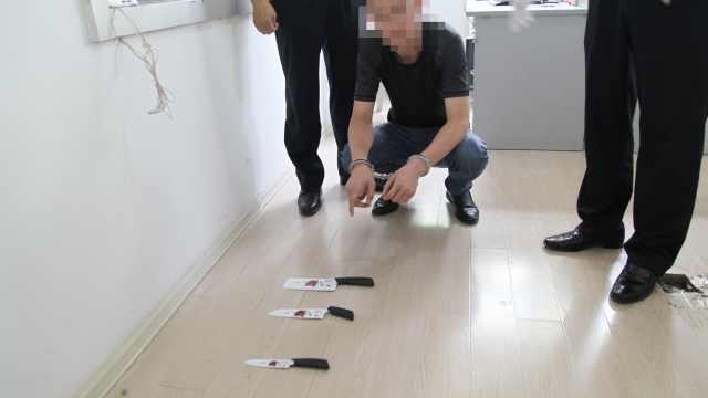 遇情感纠纷,济南男子8楼扔下3把刀