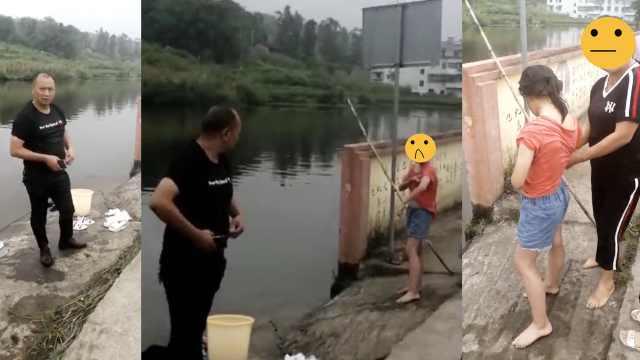 女孩不慎落水,副镇长村民跳水救人