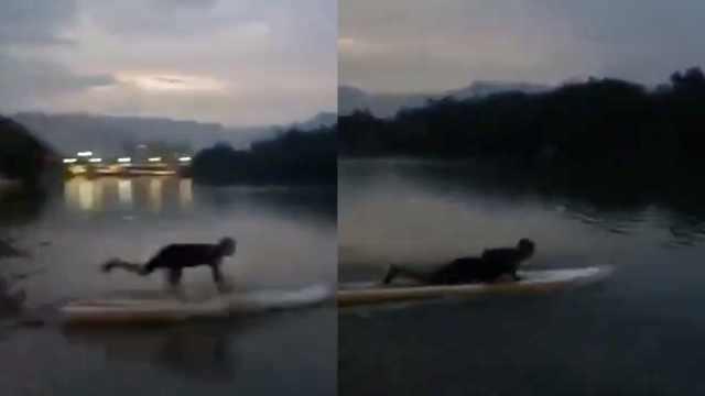 他2小时内救2溺水者,累到瘫地呕吐
