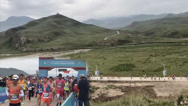 海拔3100米高原马拉松,选手高反跑
