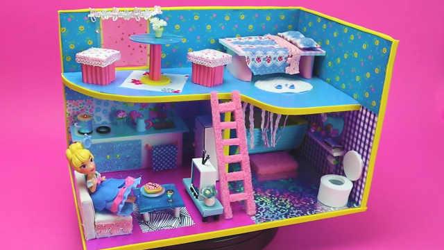 DIY自制的芭比娃娃小清新公寓