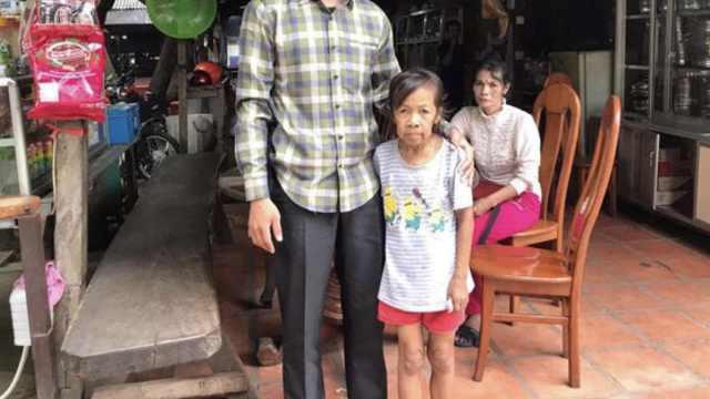 柬埔寨10岁女童患罕见病,外貌60岁