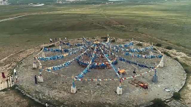 蒙古族祈求上天祝福神圣仪式祭敖包