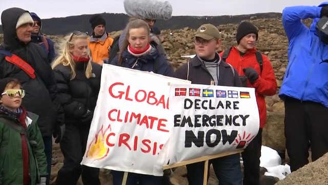 冰岛为因气候变化消失的冰川办葬礼