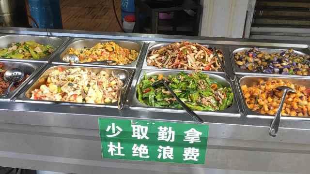 十元自助餐荤素皆有,顾客:味美菜多