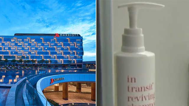 万豪酒店将取消一次性浴室用品瓶