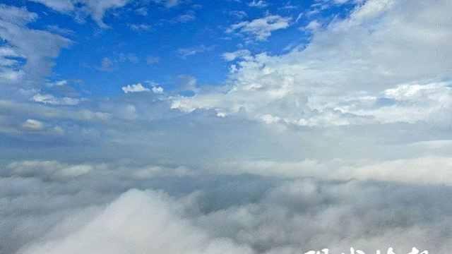 镇江句容:雨后云雾缭绕如仙境