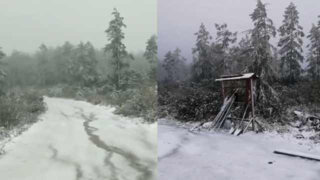 根河一秒入冬,山上下雪城区已供暖