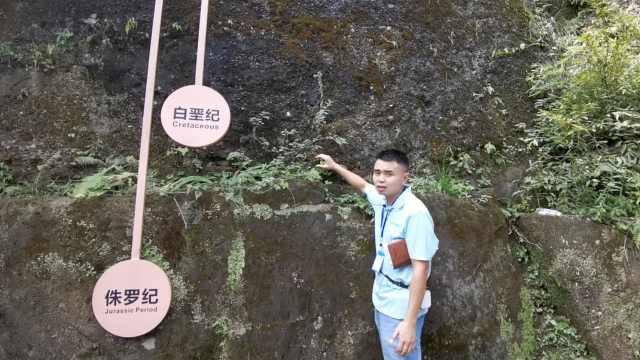 一臂揽亿年!这条石缝经历了5千万年